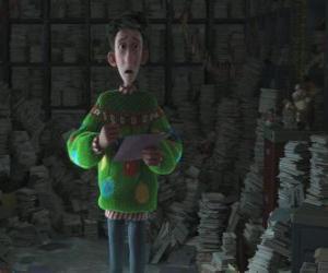 Puzzle Arthur Noël entouré par des milliers de lettres