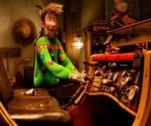 Puzzle Arthur Noël regarder le traîneau vieux