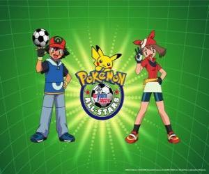 Puzzle Ash, Mai et Pokemon