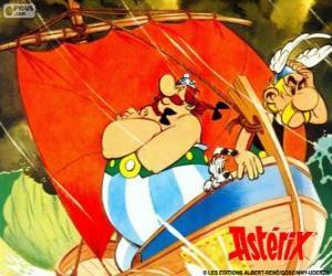 Puzzle Astérix et Obélix, les deux amis sont les protagonistes des aventures d'Astérix le Gaulois