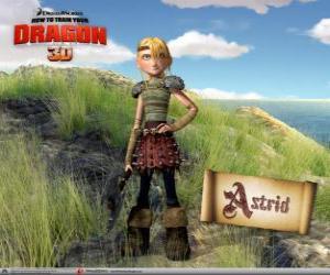 Puzzle Astrid Hofferson, une jeune viking surprenant, énergique et compétitif