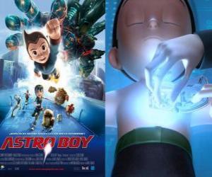Puzzle AstroBoy ou Astro Boy, un super-robot créé par le professeur Tenma à l'image de son fils Toby morts et de ses souvenirs
