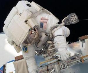 Puzzle Astronaute dans l'espace