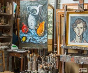 Puzzle Atelier de l'artiste peintre
