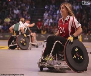Puzzle Athlète handicapé