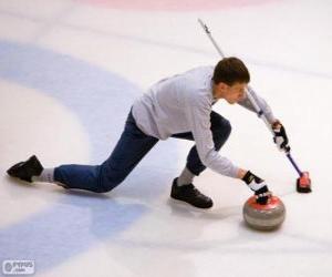 Puzzle Athlète pratiquant le curling