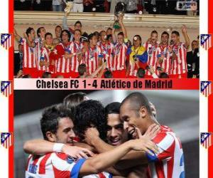 Puzzle Atlético de Madrid Champion 2012 Supercoupe UEFA