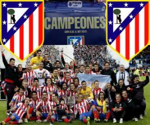 Puzzle Atlético de Madrid champion du Copa del Rey 2012-2013