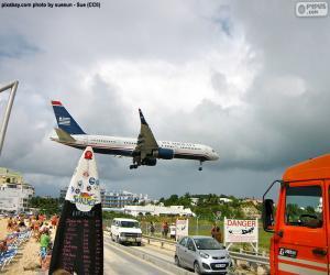 Puzzle Atterrissage à Saint-Martin