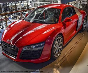 Puzzle Audi R8 rouge