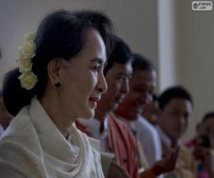 Puzzle Aung San Suu Kyi politique et activiste birman