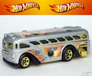 Puzzle Autobus Hot Wheels