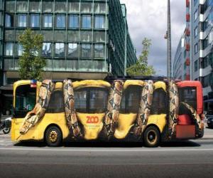 Puzzle Autobus urbain, Copenhague