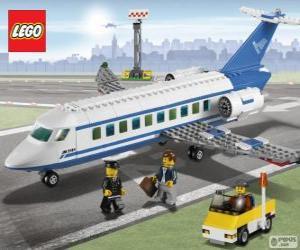 Puzzle Avion de passagers de Lego