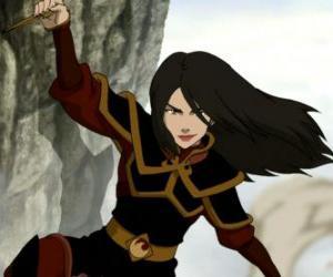 Puzzle Azula est la princesse de la Nation du Feu et sa petite sœur de Zuko