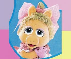 Puzzle Bébé Piggy, le Muppet bébé Miss Piggy