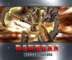 Puzzle Bakugan Subterra gorem est le gardien de Julie