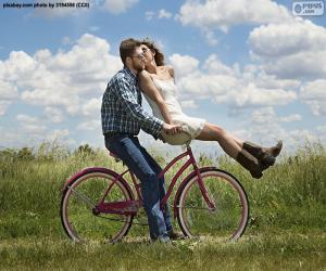 Puzzle Balade à vélo romantique