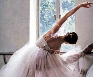Puzzle Ballerina s'entraîner avec la barre
