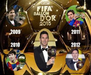 Puzzle Ballon d'or FIFA 2015