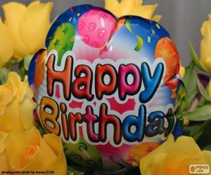 Puzzle Ballon Happy Birthday