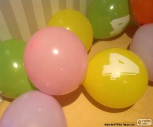 Puzzle Ballons avec un nombre