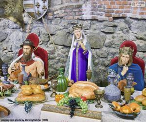 Puzzle Banquet du Moyen Age