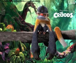 Puzzle Bapoing, drôles singes qui sont dangereux pour leurs coups de poing, quand ils se sentent menacés