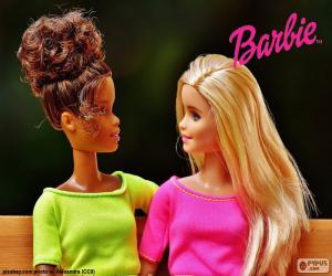 Puzzle Barbie avec una amie