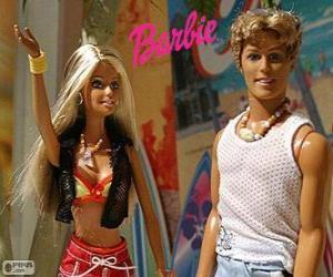 Puzzle Barbie et Ken en été