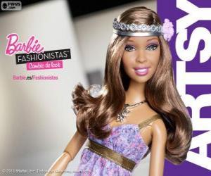Puzzle Barbie Fashionista Artsy
