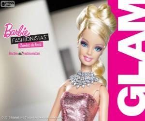 Puzzle Barbie Fashionista Glam