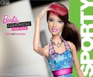 Puzzle Barbie Fashionista Sporty