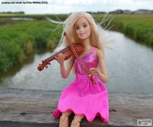 Puzzle Barbie joue du violon