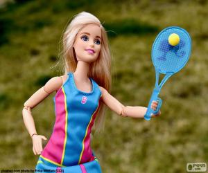Puzzle Barbie jouer au tennis