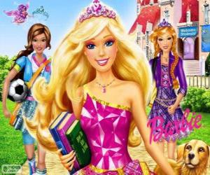 Puzzle Barbie Princesse à l'école
