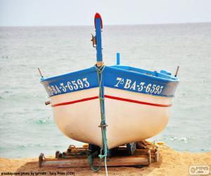 Puzzle Bateau échoué sur la plage