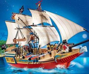 Puzzle Bateau de pirate Playmobil