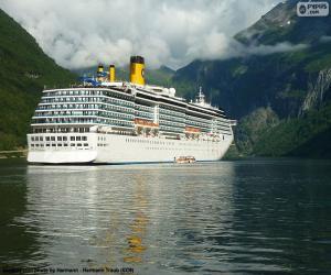 Puzzle Bateau, fjord de Geiranger