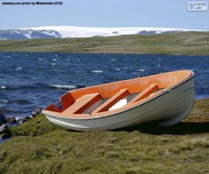 Puzzle Bateau sur la côte norvégienne