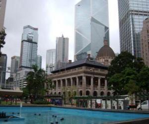 Puzzle Bâtiment néoclassique de la ville de Hong Kong