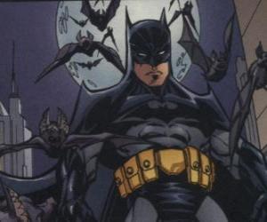 Puzzle Batman avec ses amis, les chauves-souris