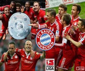 Puzzle Bayern Múnich champion 2013-2014