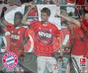 Puzzle Bayern Múnich, champion 2015-2016