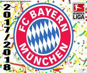 Puzzle Bayern Munich, Bundesliga 2017-2018