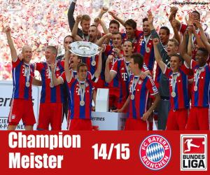 Puzzle Bayern Munich, champion 2014-2015