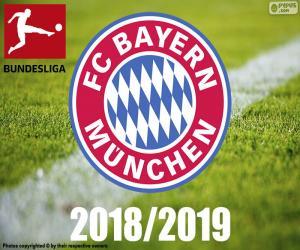 Puzzle Bayern Munich, champion 2018-2019