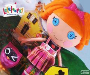Puzzle Bea Spells-A-Lot de Lalaloopsy avec son animal de compagnie, un hibou