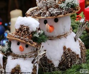Puzzle Beau bonhommes de neige