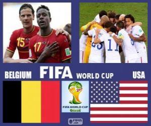 Puzzle Belgique - États-Unis, huitième de finale, Brésil 2014